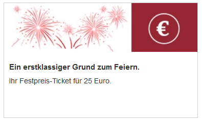 Bahn Festpreis Ticket