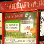 REWE Bahn Aktion: Beim Kauf einer 29 EUR Bahn Geschenkkarte gibt es einen 4,50 EUR Bahn Gutschein kostenlos dazu - Bahntickets aus dem Supermarkt