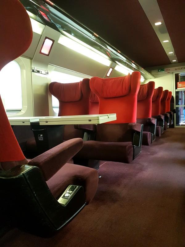 Thalys Sitze in der Comfort 1 Klasse
