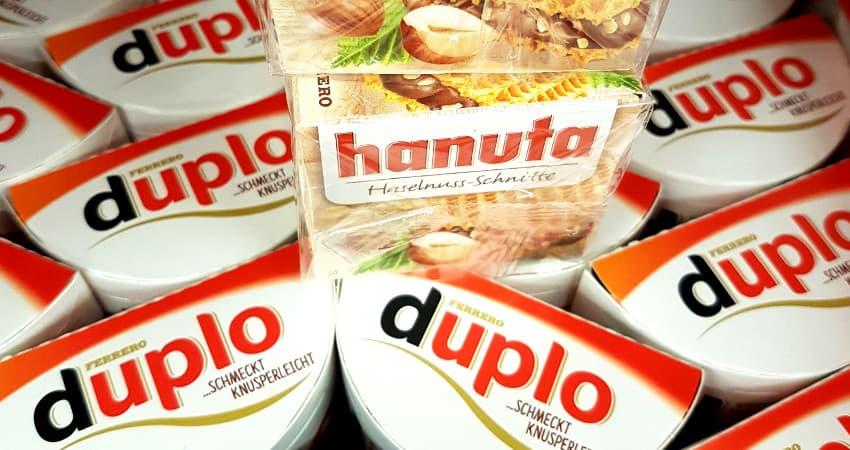 Ferrero: 10 Euro Bahn Gutschein in Duplo und Hanuta Aktionspackungen - Bahntickets aus dem Supermarkt