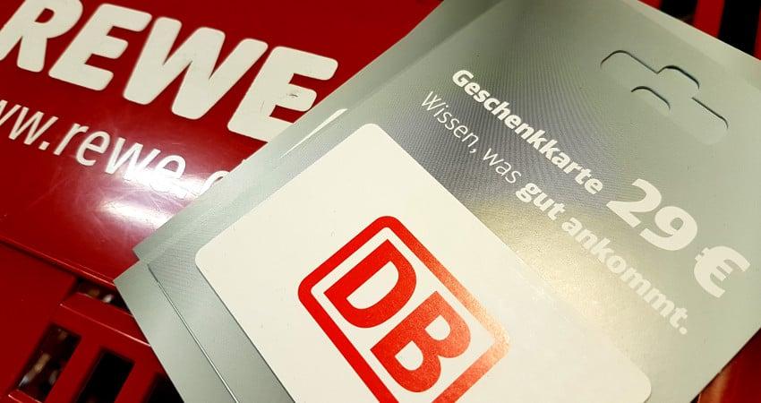DB Bahn Gutschein bei REWE mit Rabatt