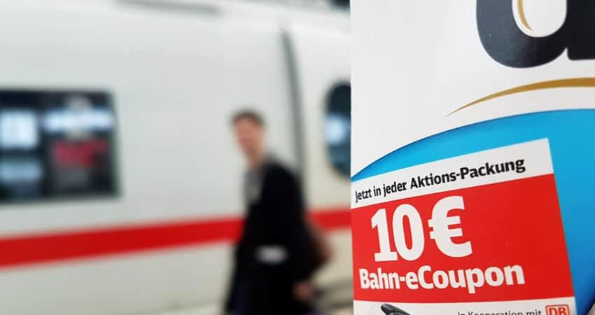 10 Euro Bahn Gutschein bei Duplo, Hanuta, Kinder von Ferrero