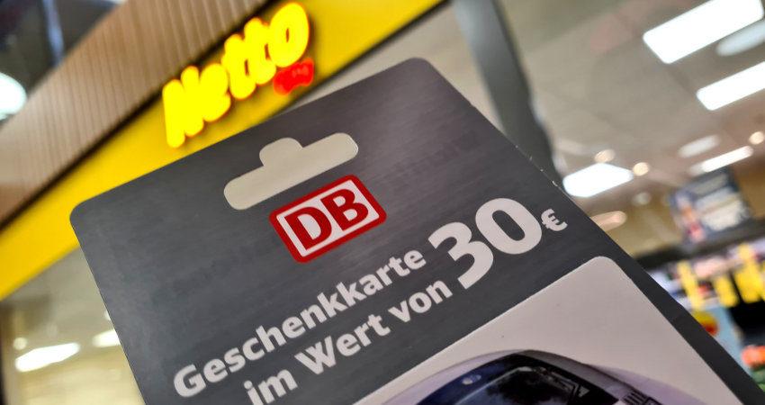Netto Bahn Gutschein - günstige Bahntickets aus dem Supermarkt
